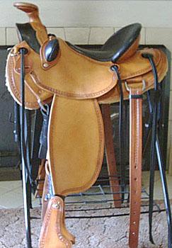 Custom Mule Saddles Old Time Slick Fork Old West Cowboy