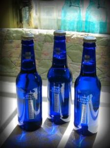 Blue Bud bottles