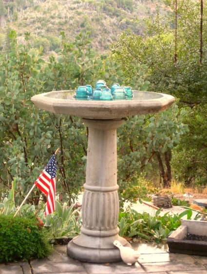 New Flea Market birdbath