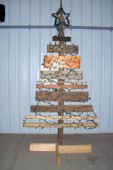Lumber Christmas tree