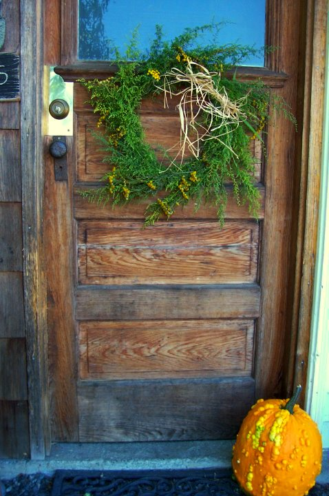 """""""Sweet Annie wreaths! Find them here in the fall. Smells like heaven,"""" Shirley says."""
