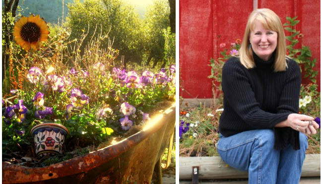 Sue Langley, writier, photographer, and Flea Market Gardening blogger