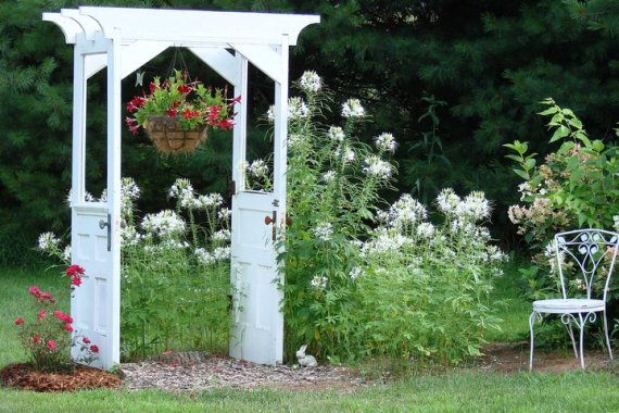 Jean Sammonsu0027 Door Arbor & Making snazzy re-purposed garden arches | Flea Market Gardening