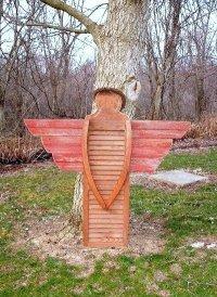 Myra's shutter garden angel | Flea Market Gardening