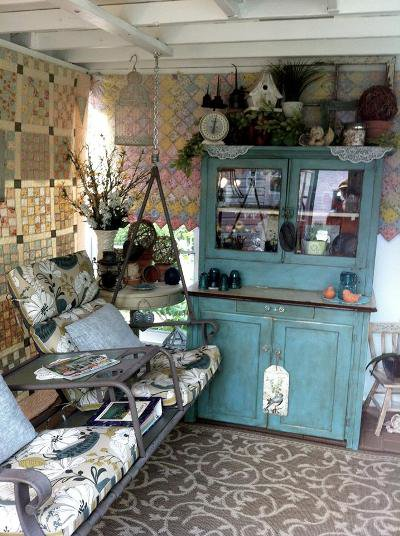 Grandma's hutch and an old tete a tete