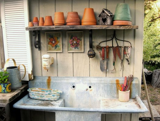 After- My play kitchen and potting sink