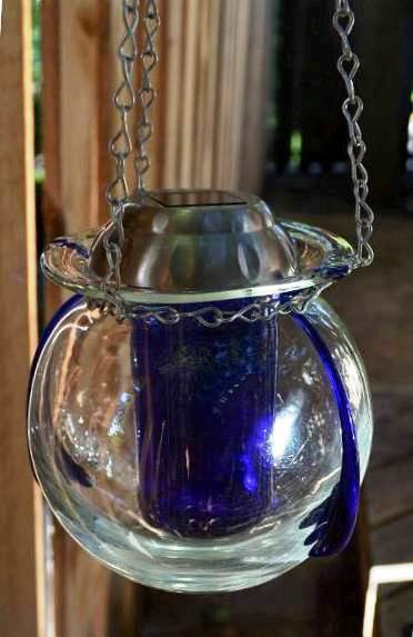 Marie's vase and bottle light, inspired by Sue Gerdes' designs