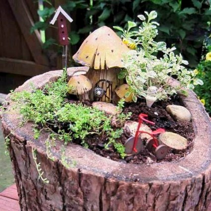 One of Jeanie's Fairy gardens for her booth at London's Rib and Jazz Fest one weekend.