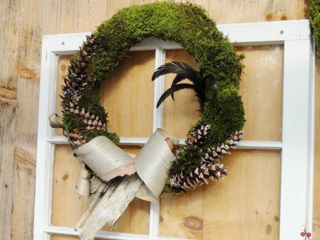 Lynn LeClair's wreath made with moss