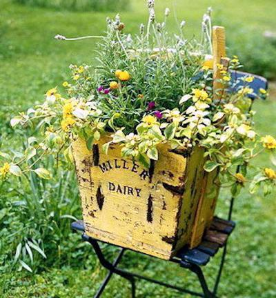 Debbie McMurry's sunny yellow crate