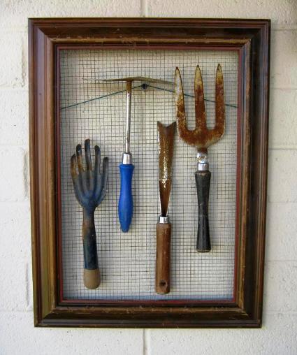 How To Display Vintage Tools In The Garden Flea Market