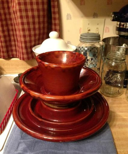 """""""I have to share this insulator that was given to me today by my brother-in-law, who bought it at an auction. Cost me $7.00!! I can use it for a bird feeder, candy dish or decorative on the table."""""""