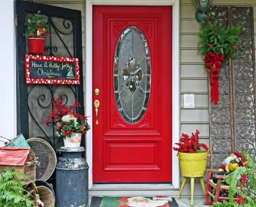 David and Peggi Freeman's holiday front door