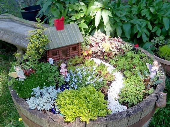 How To Create A Fairy Garden In A Container Flea Market Gardening
