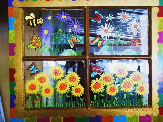 Stormy Day's sunny summer window