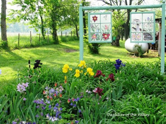 Gorgeous outdoor windows from Daylilies of the Valley