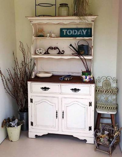 Deana  Shroll's dressed up buffet hutch