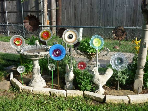 Lynda Leverett's flower bed