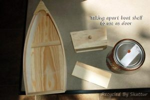 Materials for making a tree house door