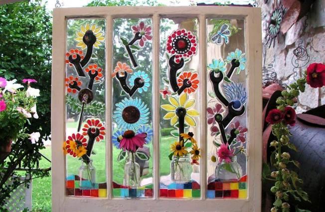 Winsome Window Mosaics For The Garden Flea Market Gardening