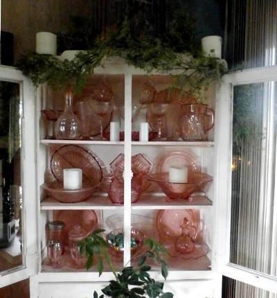 Connie Dee Schnecker Pink depression glass...