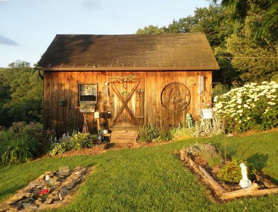Louretta Pugh's quaint shed is a showcase
