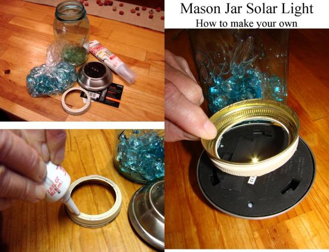 Mason jar solar lights 'how to'