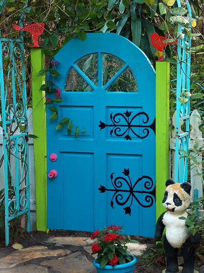 Catherine's brightly painted gate