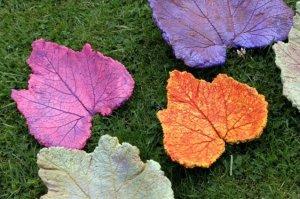 Sandra Miles's leaf castings