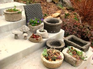Troughs, stepping stones, mushrooms and freeform bowls