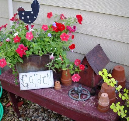 Debbie McMurry's decorated bench