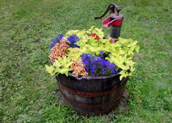 Loretta Fuller's flowery 'pond'