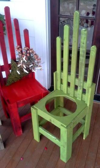 Billie's 'potholder' chairs