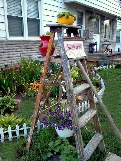 Garden ladder projects you can do  Flea Market Gardening