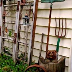 Kitchen Table Set With Bench Sample Kitchens Garden Ladder Projects You Can Do! | Flea Market Gardening
