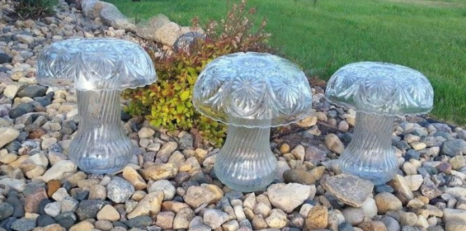 Sue Gerdes's finished 'shrooms