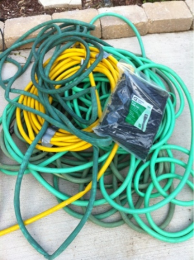 Useless old hoses can easily be found, ask neighbors and friends, too.