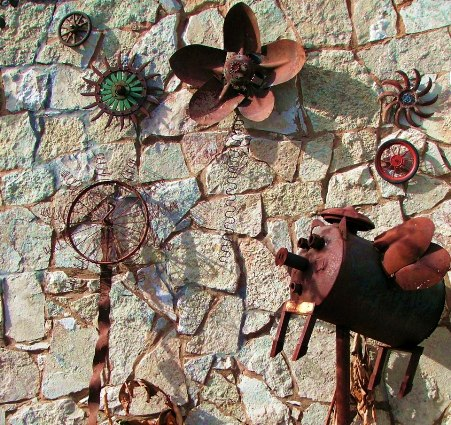 Becky Norris's wall o' rust