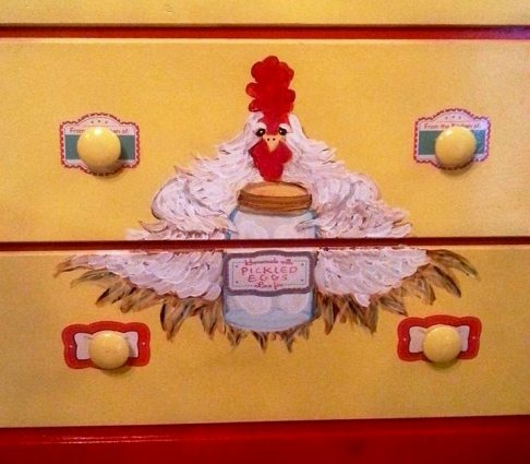 Kelly's chicken chest detail