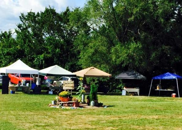 St Clair, Missouri Farmers Market garden