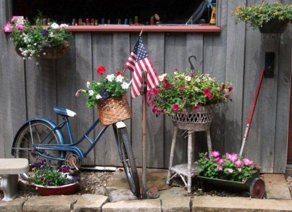 Quaint Bloomin Bicycles For The Garden Flea Market