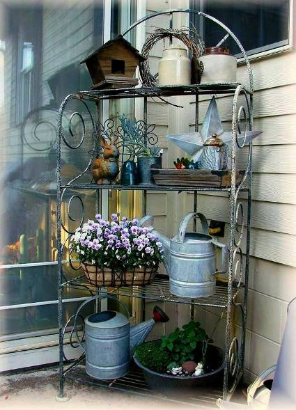 Gorgeous  Galvanized in the garden  Flea Market Gardening