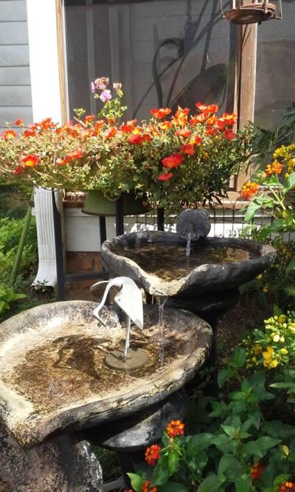Billie Hayman Love my old antique fountain