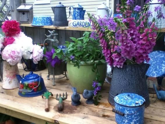 Cherrie loves arranging and rearranging her garden treasures