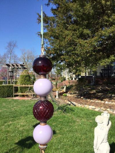Lightning Rod Balls Totems For The Garden Flea Market Gardening Flea Market Gardening