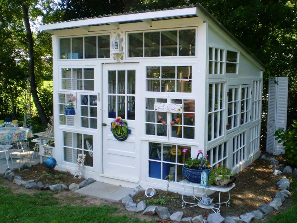 Kathryn Buckley Here is this Kathy's version of a greenhouse made from old windows