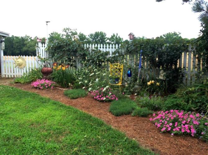 Debbie Brueningu0027s Flower Border, Dotted With Flea Market Accents