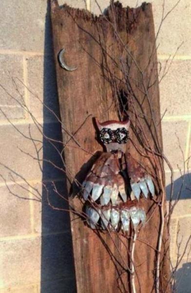 Tammy Schultz's Barn wood owl art
