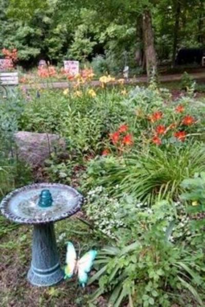 Another garden flower bed