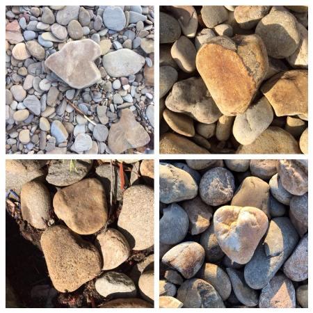 Wanda Clark Four rocks of hearts